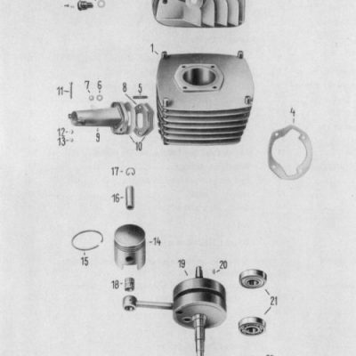 Cylinder, Piston, Crankshaft